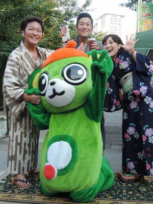 イツちゃんに会いに来た、声優の山口勝平さん、中谷一博さん、林りんこさん。、