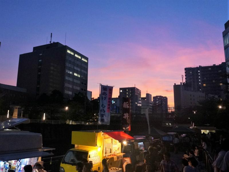 昨年は綺麗な夕焼けが観られました。