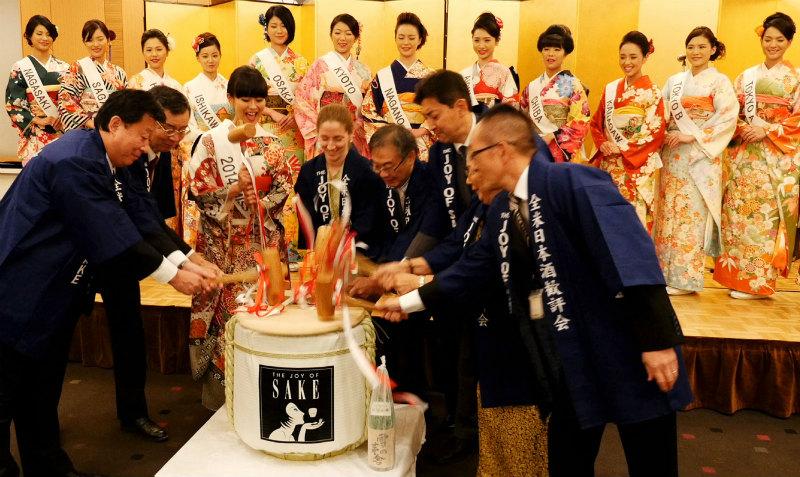2016 ミス日本酒も美酒と美食の饗宴を盛り上げます。